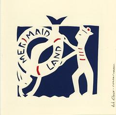 mermaid land (anh gloux) Tags: rouge marine couple duo marin bleu card land mermaid papier dcoupage blanc carte sirene marins