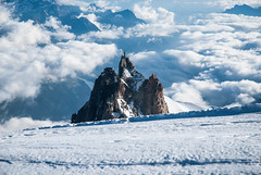 Chamonix, France - Aiguille du Midi, Above The Clouds (GlobeTrotter 2000) Tags: world travel vacation snow france alps ice car alpes french europe heaven top cable adventure explore climbing midi blanche chamonix mont blanc refuge aiguille vallee cosmiques