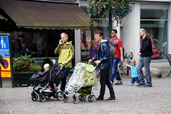 Fathers out with their kids (osto) Tags: people man europa europe sweden stroller sony dslr scandinavia malm a300 osto alpha300 osto july2012