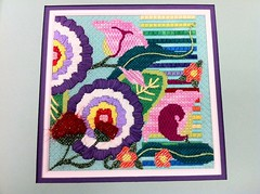 Gorgeous class by Renee. (Gone Stitching1) Tags: flower silk needlepoint silkribbon