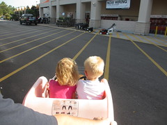 IMG_0031 (drjeeeol) Tags: shopping katie will cart triplets toddlers homedepot shoppingcarts 2012 26monthsold