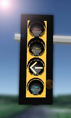 yielding left turn signal (Traffic signal Guy 14) Tags: yellow bracket led trafficsignal mccain leftturn charchoal yielding mastarmed