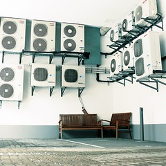 Surround Sound (David Foster Nass) Tags: bench hamburg airconditioning