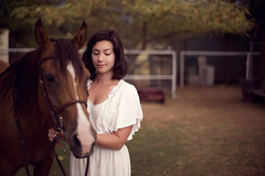 Aubrey Recchia. (The Vision Beautiful) Tags: horse girl beautiful animal foxy ride sweet gorgeous riding equestrian whitedress weekofmodels
