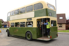 grampian half cab (dav.munro) Tags: city uk bus green classic museum vintage garden scotland group first aberdeen depot council driver 17 conductor alford grampian no17 firstgroup firstaberdeen grampiantransport firstinaberdeen