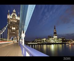 Tower Bridge (esslingerphoto.com (back in London)) Tags: bridge england london tower thames skyline river britain great gb shard lighttrail