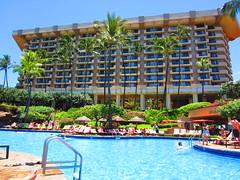 Hyatt Regency Maui's Poolside (B.o.A) Tags: ocean beach pool beautiful bar island hotel pacific sunny maui palmtrees pacificocean shore palmtree beaches hi hotels refreshing lahaina hawai hyattregency mauihawaii hyattregencymaui pooside