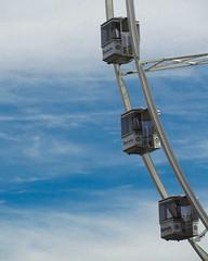 Antwerp Giant Wheel (joyrex) Tags: blue sky color wheel clouds blauw belgium belgië wolken antwerp lucht antwerpen reuzenrad giantwheel