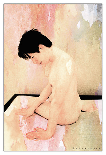 Male Studies watercolour effect