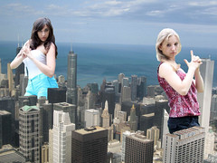 Two Giant girls playing police in the city (misterwerder) Tags: city two hot sexy feet collage sex sisters skyscraper lesbian amazon kissing legs boots sister destruction goddess young picture teen taller porn multiple tall titanic dominance bigger slaves slave mega giantess gts dominant giga