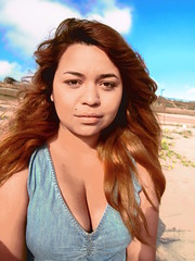 Memories of Waves and Sand 4 (TheJudge310) Tags: woman beach girl hair long dress candy jean denim latina elsegundo