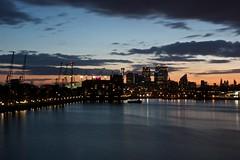 London 2014 (Daniel Hischer) Tags: sunset london skyline skyscraper dawn cityscape canarywharf