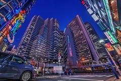 Nishi-Shinjuku Towers at Dusk (hidesax) Tags: street car japan night buildings tokyo shinjuku raw cityscape nightscape skyscrapers dusk hdr 5xp hidesax d800e nishishinjukutowersatdusk
