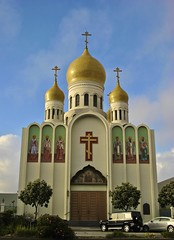 Russion Orthodox Church in San Francisco (Fuzzy Traveler) Tags: sanfrancisco church religion richmond russianorthodox