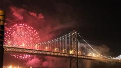 Fireworks at the bay bridge (kerolic) Tags: sanfrancisco eve firework baybridge