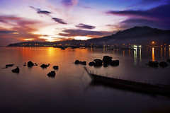 Pantai Nirwana (mnhisyam.bahrom) Tags: sunset colour indonesia landscape pantai travelphotography mnb padangindonesia mnbphotoblogspotcom mnbphoto