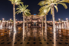 Emirates Palace Hotel (Empty Quarter) Tags: longexposure trees light building architecture night hotel nikon long exposure united uae palace palm emirates arab dome abu dhabi f4 1635 d600