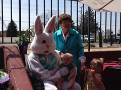 "Grandma Montopoli with Paul, Inde, and the Easter Bunny • <a style=""font-size:0.8em;"" href=""http://www.flickr.com/photos/109120354@N07/14015668423/"" target=""_blank"">View on Flickr</a>"