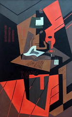 IMG_6192 Maria Blanchard. 1881-1932. Paris. Nature morte rouge  la lampe. Red Still Life with Lamp. vers 1917.   Cologne.  Muse Ludwig. (jean louis mazieres) Tags: museum germany painting deutschland cologne kln muse museo allemagne peintures peintres ludwigmuseum museludwig mariablanchard