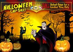 Magmic's King Halloween Chip Sale (lezumbalaberenjena) Tags: art ads corporate design marketing video media graphic social games images branding logotype magmic
