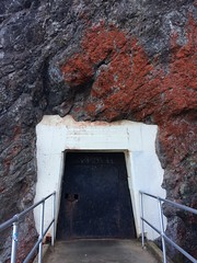 the way is shut (to Bonita Lighthouse) (olive witch) Tags: sf california door mountain rock landscape outdoors day august bayarea portfolio 2015 aug15 abeerhoque