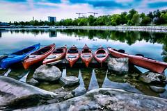Helsinki (Tuomo Lindfors) Tags: sea water suomi finland helsinki kayak shore meri vesi adjust ranta kajakki restyle topazlabs