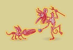 Feeding Time (Don Moyer) Tags: dog ink notebook drawing hell demon devil moyer brushpen donmoyer
