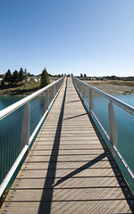 Lake Tekapo (alextoothill) Tags: bridge blue newzealand lake water aqua outdoor turquoise nz southisland laketekapo tekapo newzealandparadise