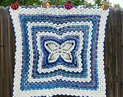 Butterfly Lap Blanket (wagsdot911) Tags: crochet crochetblanket crochetporn
