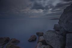 On the Rocks (MartinSommer) Tags: park longexposure sunset toronto water outdoors nikon rocks humber humberpark