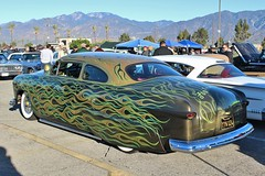 Mooneyes X-Mas Party 2015 (USautos98) Tags: ford flames hotrod shoebox streetrod 1951 kustom