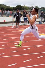Eli winning the 200m (Malcolm Slaney) Tags: track paloalto 200m trackandfield 2016 paly ccspreliminaries
