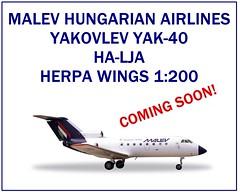 Herpa Wings MALEV Yak-40 HA-LJA 1:200 (KristofCs) Tags: wings model aircraft 1200 airlines magyar regional avion maquette hungarian trijet codling yakovlev herpa malev jak40 yak40 malv jakovlev 40 halja lgitrsasg maqeuta