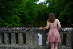 DSC_0299 (moyer.gabriel) Tags: bridge abandoned nature water girl model nikon cabby