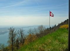 Lac de Bienne/Bielersee (SnapDoc) Tags: mountains switzerland landscapes lakes flags bielersee lacdebienne