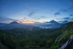 Kintamani - Sunrise Over Batur, Abang & Agung (teckhengwang) Tags: bali indonesia lumix panasonic mount batur agung kintamani abang gx1