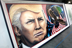 Donald Trump art (Gage Skidmore) Tags: california art patriotic center donald convention pasadena trump 2016 politicon