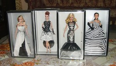 Complete Set- Black and White Collection (Paul BarbieTemptation) Tags: white black classic ball evening dress label barbie chiffon collection mari lara linda laser mackie aphrodite gown platinum beaded carlyle leatherette 2014 2016 2015 kyaw 2013 nuera