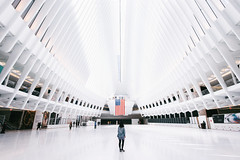 See you soon. (dyorex) Tags: city nyc newyorkcity travel light usa white newyork building colors station architecture design nikon pattern emotion manhattan interior worldtradecenter structure symmetry line oculus vsco