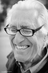 Nervous laugh (Luis Alvarez Marra) Tags: street portrait bw monochrome 35mm spain nikon outdoor candid catalonia soul luis moment alvarez collecting salou tog decisive marra d7000 streettog