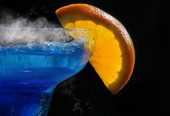 MM: Hot/Cold (seajaipix) Tags: macromondays hotcold brilliant cocktail blue black background