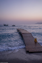 Doc at the evening (aleksey_kondratiev) Tags: turkey fethiye oludeniz mediterranean sea water blue wave waves seashore rocks sky sunset pier beach