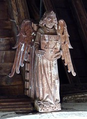 Tilney, All Saints - Norfolk (Glass Angel) Tags: church angel norfolk angels hammerbeamroof tilneyallsaints angelroof