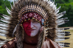 Big chief (ericbeaume) Tags: portrait people face nikon bokeh indian feather makeup naturallight 18300mm d5100 ericbeaume