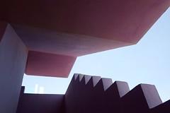 The Red Wall by Architect Ricardo Bofill (Claire_Sambrook) Tags: valencia architecture design spain architect calpe ricardobofill calp theredwall lamanzanera