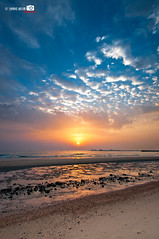Fahaheel Sunrise (Shahbaz Hussain's Photography) Tags: morning color me colors beautiful clouds self sunrise landscape for nikon waiting exposure raw with shot 10 royal file iso 25 200 falcon sec length tamron shah 1024 correction hussain fahaheel focal seacape a shahbaz d300s micarttttworldphotographyawards micartttt