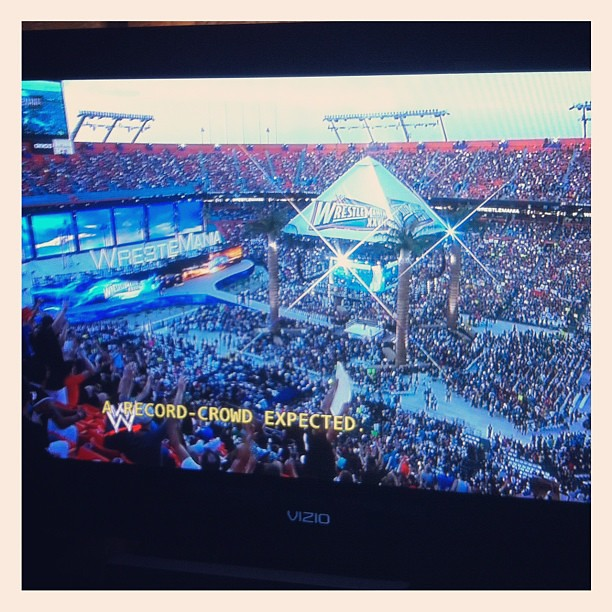 Time for #wwe #WRESTLEMANIA xxvii.