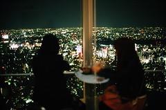 Mori Tower Observation Deck (jjldickinson) Tags: japan architecture tokyo timeexposure roppongi roppongihills nikkor nikonf moritower moriartmuseum fujicolorsuperiaxtra400 nikkors50mmf14 nikonfphotomicftn tiffen52mmsky1a roll335