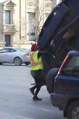 Garbage Man (chun lei) Tags: street garbage day winnipeg garbagetruck garbageday garbageman