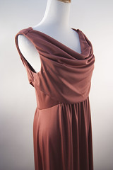 Vintage 70's draped prom evening party dress (Sweet Vintage Lady) Tags: etsy promdress vintagedress goddessdress 70sdress coraldress floorlengthdress drapeddress sweetvintagelady
